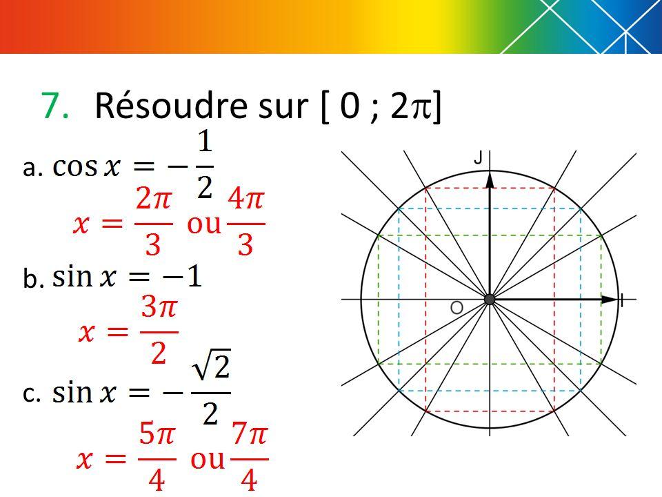 Résoudre sur [ 0 ; 2] a. b. c.